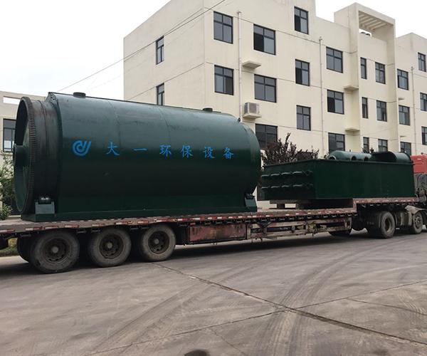 黑龙江油泥油砂炼油设备客户发货