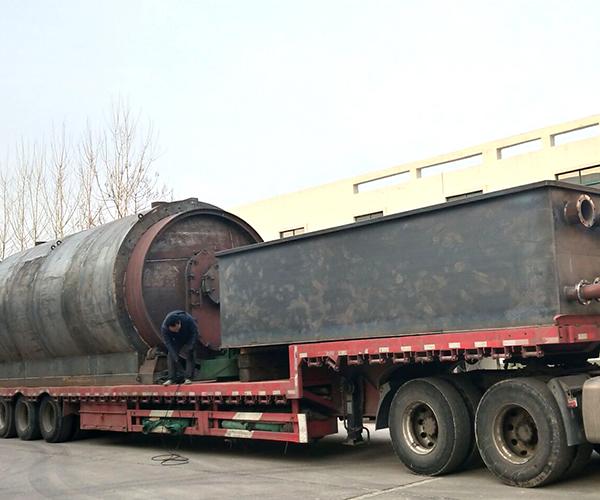 云南客户连续废油蒸馏设备发货