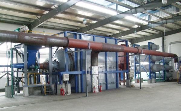 废塑料旋转裂解炉特点对内部构造工作分析